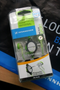 One of the many headphones that were given away!